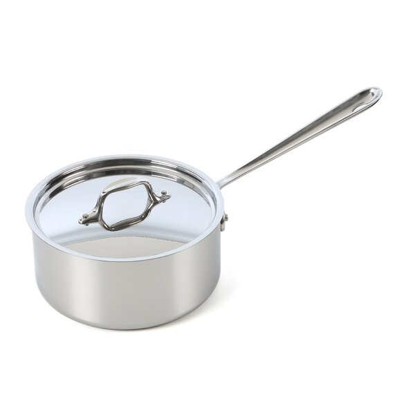 D3 Stainless Steel Saucepan with Lid by All-Clad