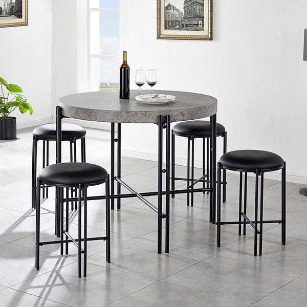Gabourey 5 Piece Counter Height Dining Set By Ebern Designs