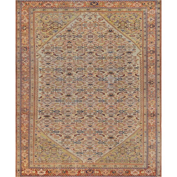 One-of-a-Kind Antique Sultanabad Handwoven Wool Ivory Indoor Area Rug by Mansour