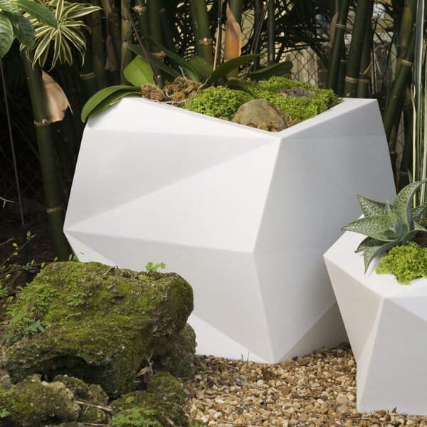 Origami Resin Pot Planter by Crescent Garden