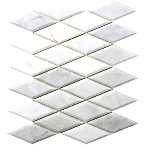 Winter Diamond Marble Mosaic Tile in Frost by Emser Tile
