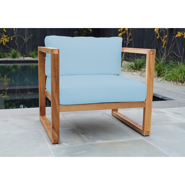 Wawona Teak Patio Chair with Sunbrella Cushions (Set of 2) by Foundry Select