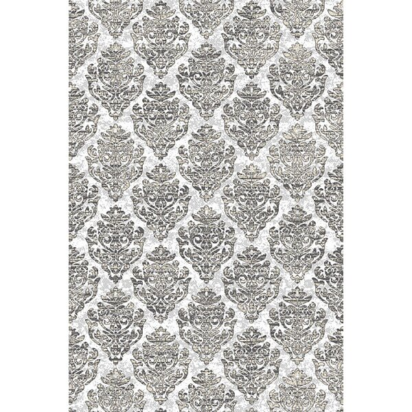 Aviva Abstract Gray/Blue Area Rug by House of Hampton