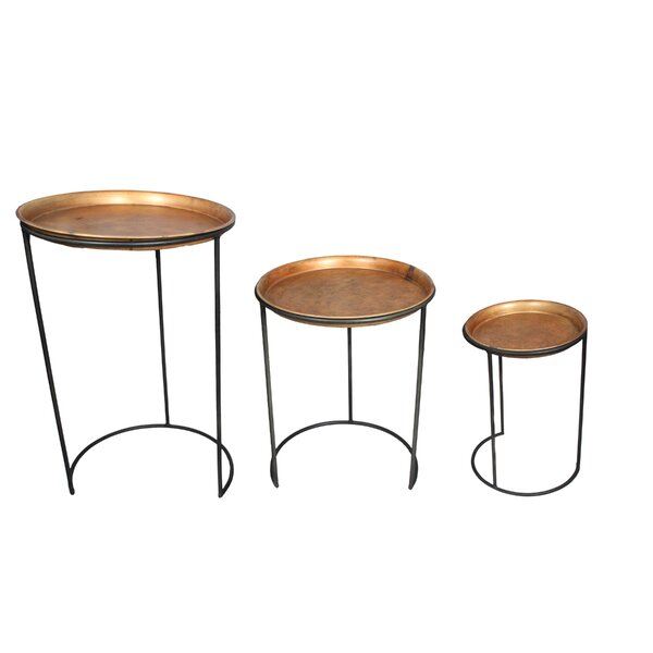 Prague Iron 3 Piece Nesting Table by World Menagerie World Menagerie