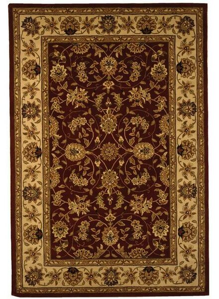 Traditions TD602D Burgundy / Ivory Oriental Rug by Safavieh