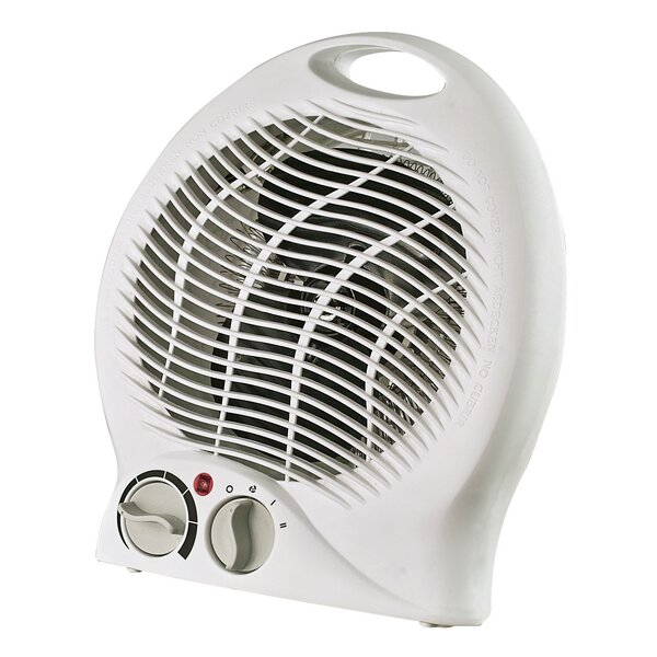 Portable Electric Fan Compact Heater with Thermostat by Optimus