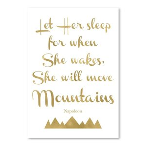 'Let Her Sleep Mountains' Textual Art by Viv + Rae