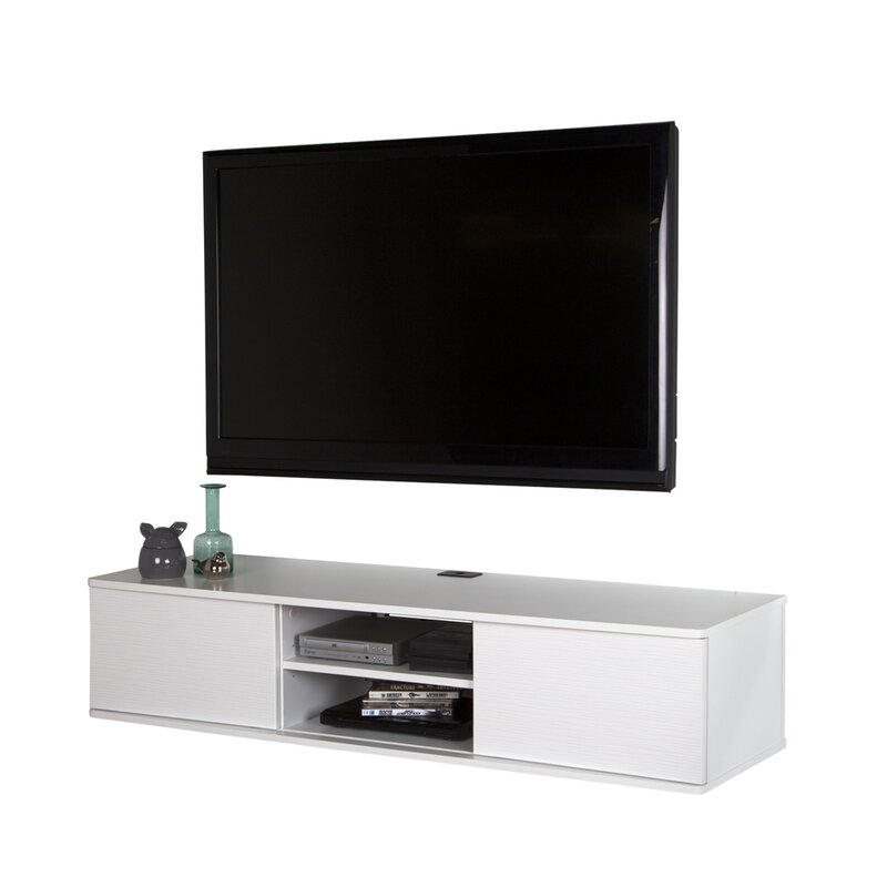 sale retailer e3cfd 708f9 Agora Wall Mounted Media Console TV Stand for TVs up to 58