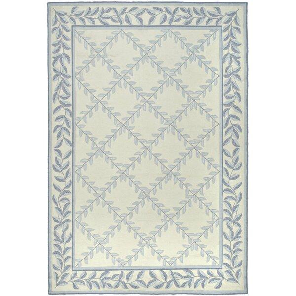 DuraRug Hand-Woven Ivory/Light Blue Area Rug by Safavieh