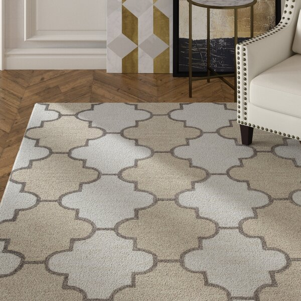 Judy Hand-Tufted Ivory Area Rug by Mercer41