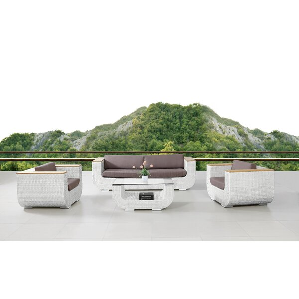 Edingworth Outdoor 4 Piece Seating Group by Corrigan Studio