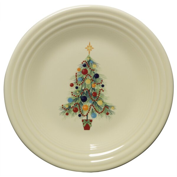 Christmas 9 Tree Luncheon Plate by Fiesta