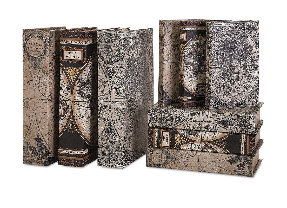 Darby home co ains the world atlas map book 9 piece decorative box ains the world atlas map book 9 piece decorative box set gumiabroncs Image collections