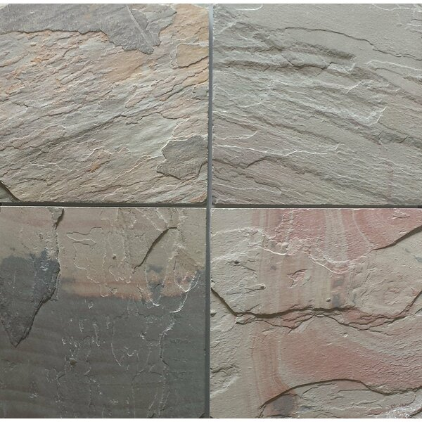 Select Pink Natural Cleft Face, Gauged Back 12x12 Slate Field Tile