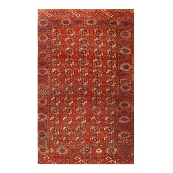 One-of-a-Kind Dalaman Hand-Knotted Red 7'1 x 11'9 Wool Area Rug