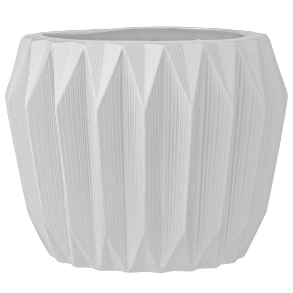 Trenton Fluted Ceramic Pot Planter by Langley Street