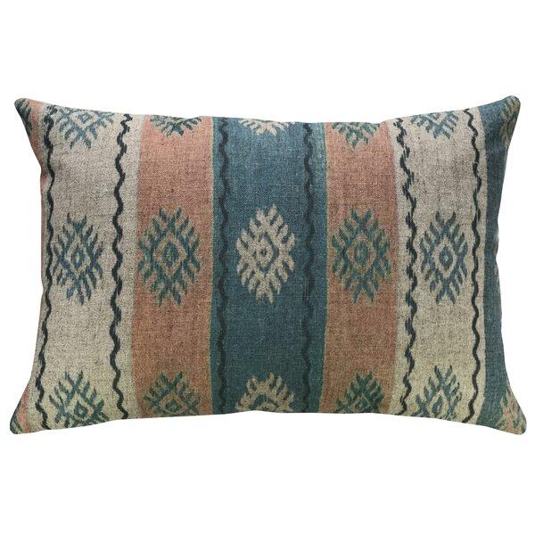 Hilda Striped Linen Throw Pillow by Mistana