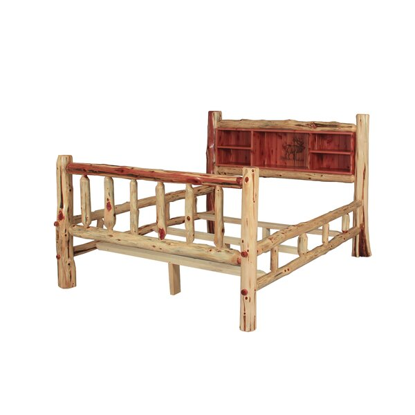 Brockway Rustic Red Cedar Log Standard Bed by Loon Peak