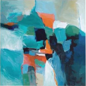 'Blue Aerial I' Painting Print on Canvas by East Urban Home