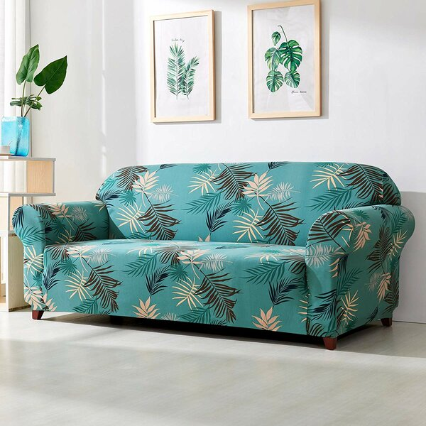 Leaves Printed Sofa Slipcover by Bayou Breeze