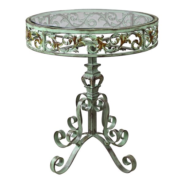 Crystal Palace Conservatory Metal End Table by Design Toscano