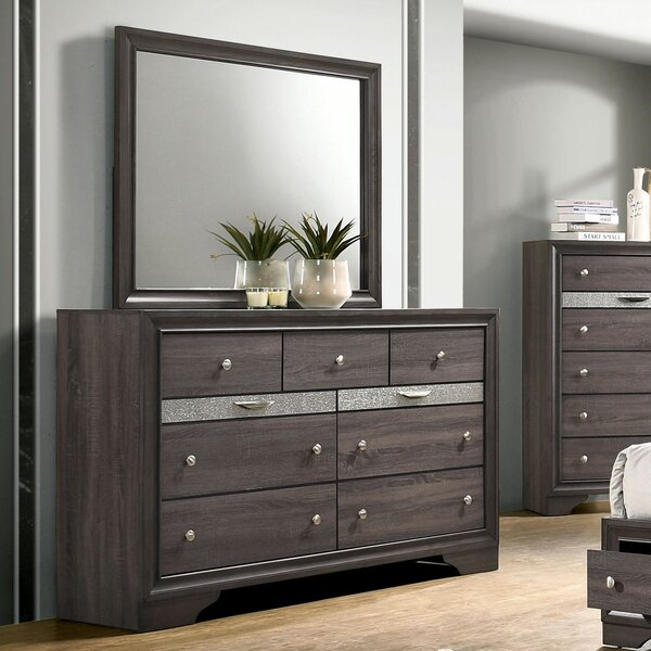 Stjean 7 Drawer Double Dresser with Mirror by House of Hampton