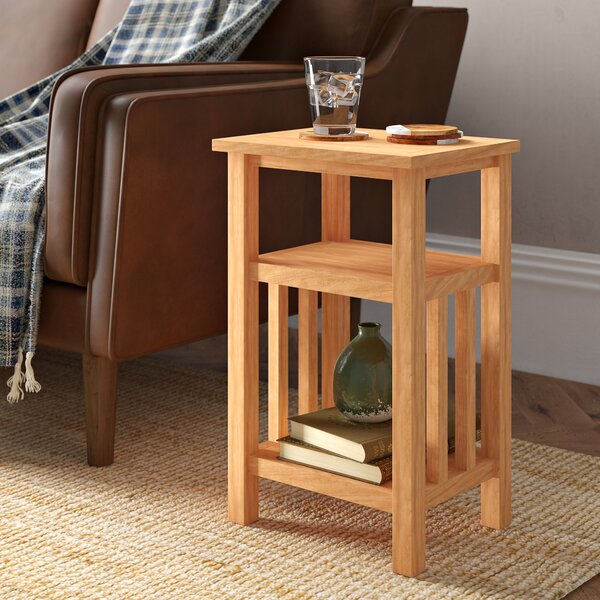 Renovo Solid Wood End Table With Storage By Millwood Pines