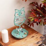 Metal Owl Earrings And Rings Jewellery Holder Stand