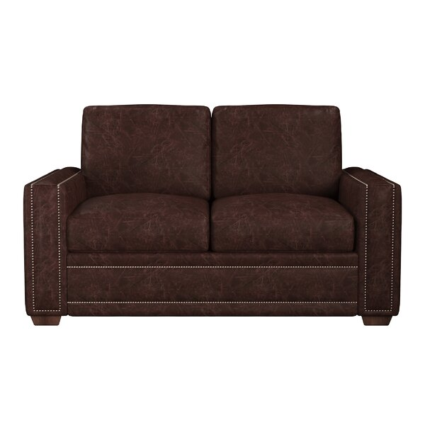Dallas Leather Loveseat By Westland And Birch
