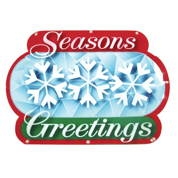 Seasons Greetings Show Sign 20 Light LED Light by Brite Star