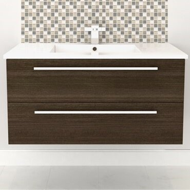 Silhouette Wall Hung 36 Single Bathroom Vanity Set by Cutler Kitchen & Bath