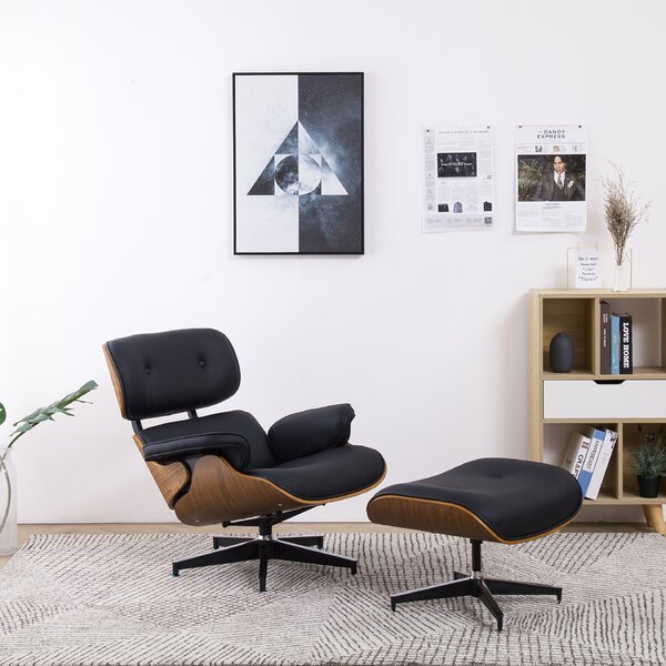 Landes 2 Piece Swivel Lounge Chair And Ottoman By George Oliver