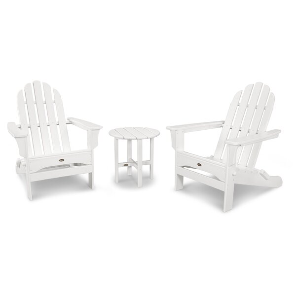 Cape Cod Folding Adirondack 3 Piece Seating Group by Trex Outdoor
