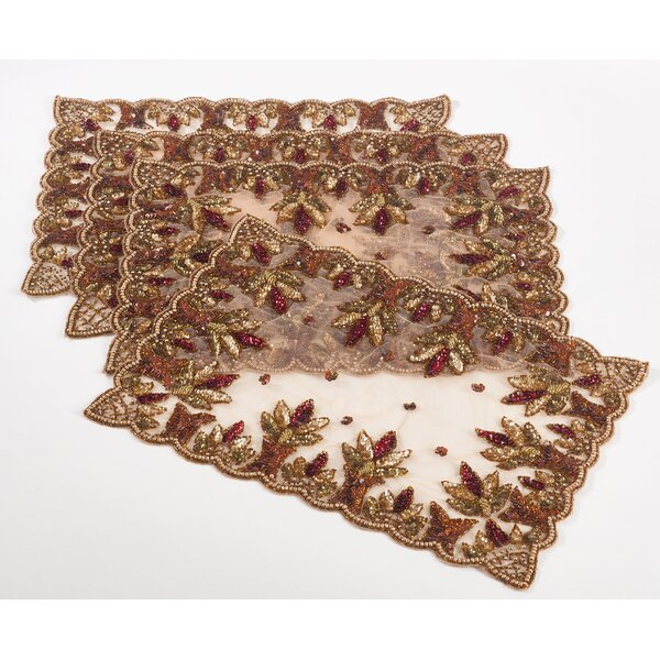 Dimatteo Hand Beaded Design 19 Placemat (Set of 4) by Rosdorf Park