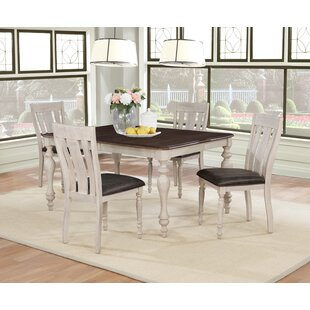 Mixon 5 Piece Drop Leaf Solid Wood Dining Set By August Grove