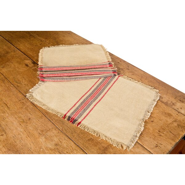 Stripe Linen Placemat (Set of 4) by Xia Home Fashions