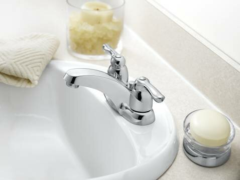 Chateau Centerset Low Arc Bathroom Faucet by Moen