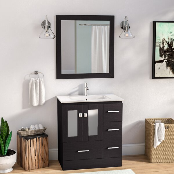 Lapoint Modern 30 Single Bathroom Vanity Set with Mirror by Latitude Run