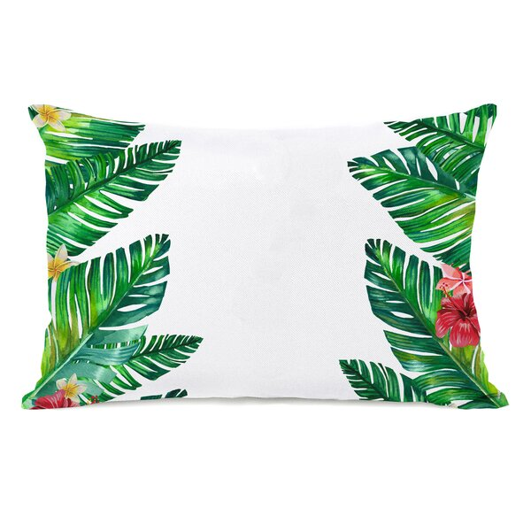 Palomar Palm Leaves Outdoor Lumbar Pillow by Bay Isle Home