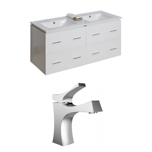 Kyra 48 Wood Double Bathroom Vanity Set by Orren Ellis