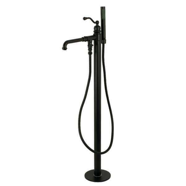 English Country Single Handle Floor Mounted Freestanding Tub Filler By Kingston Brass