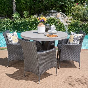 Callicles Outdoor 5 Piece Dining Set with Cushions By Brayden Studio