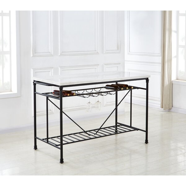 Mcdaniel Kitchen Island with Marble Top by 17 Stories