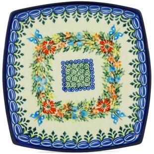 Cornflower and Butterflies Polish Pottery Square Decorative Plate  sc 1 st  Wayfair & Decorative Plates Youu0027ll Love | Wayfair