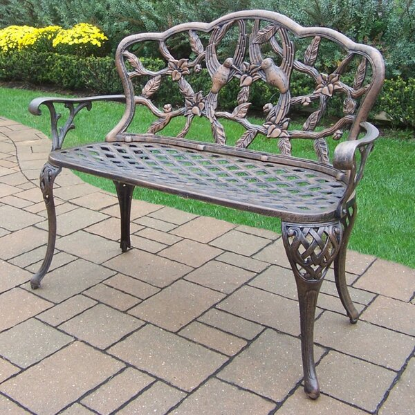 Hummingbird Aluminum Garden Bench by Oakland Living