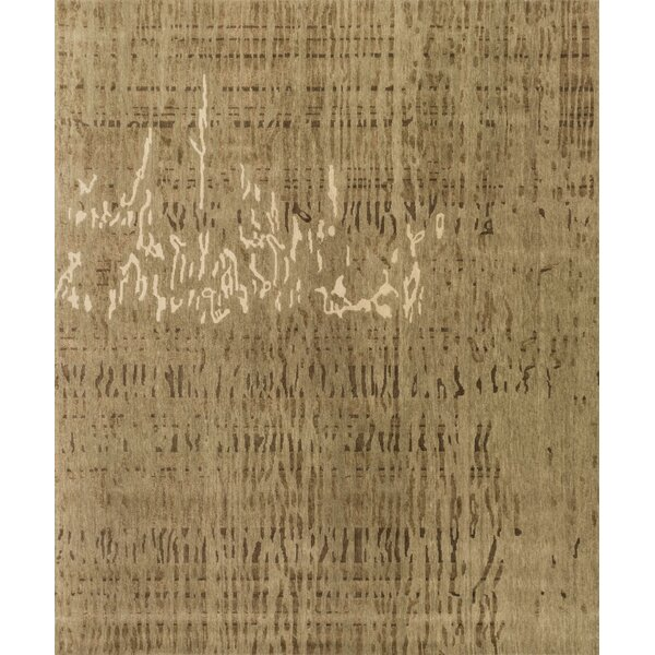Shaunda Hand-Knotted Burlywood Area Rug by Bloomsbury Market