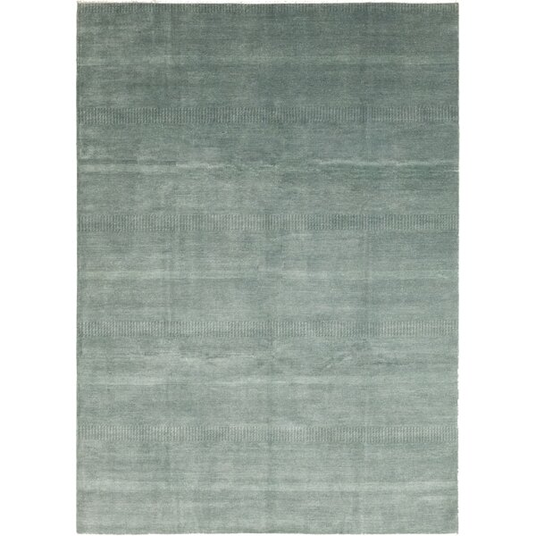 One-of-a-Kind Devonta Hand-Knotted Wool Blue Indoor Area Rug by Isabelline