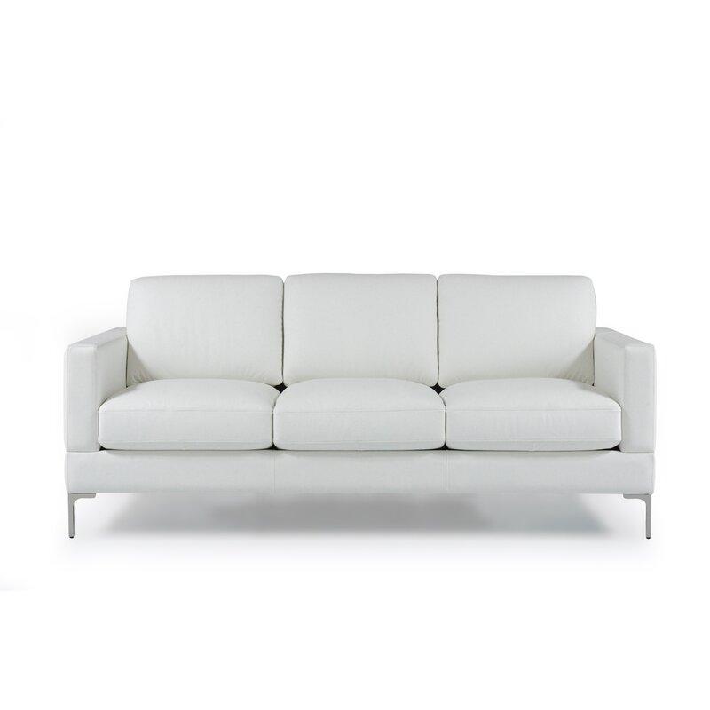 Kathrin Leather Contemporary Sofa