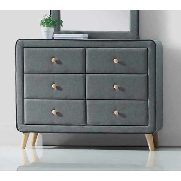 Bybee Fabric 6 Drawer Double Dresser by Corrigan Studio