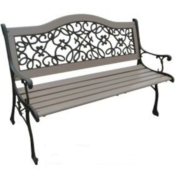 Dollar Wood and Cast Iron Park Bench by DC America